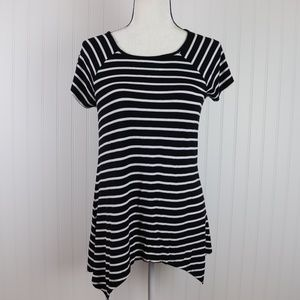 Cable & Gauge Asymmetrical Hem Tunic Size Small